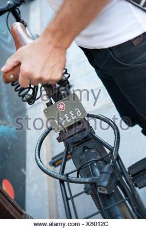 Schweizer Fahrradkennzeichen - Stock Photo