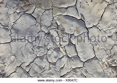 Andalusia detail mud earth heat pattern concepts olive groves province Jaen tears Spain abstract brown graphical hot dry - Stock Photo