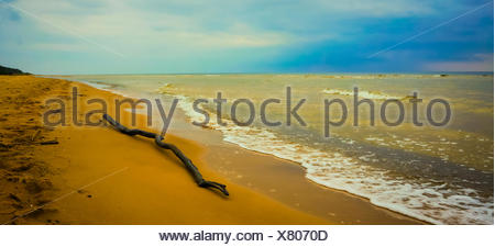 Cool Baltic sea in a cloudy day - Stock Photo
