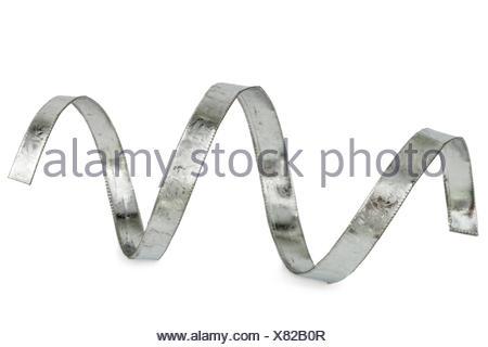 Metal shavings, isolated on white background - Stock Photo