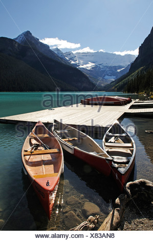 Lake Louise, Banff National Park, Alberta, Canada - Stock Photo