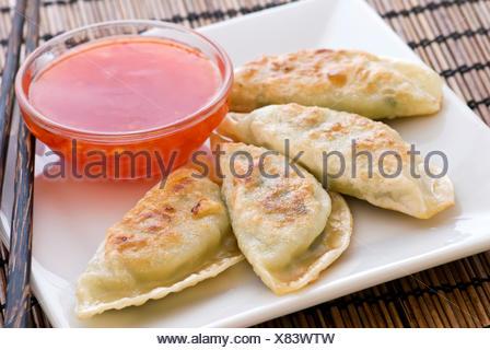 asian cuisine,dumplings,mandu - Stock Photo