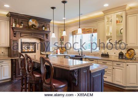 Upscale kitchen interior design. - Stock Photo