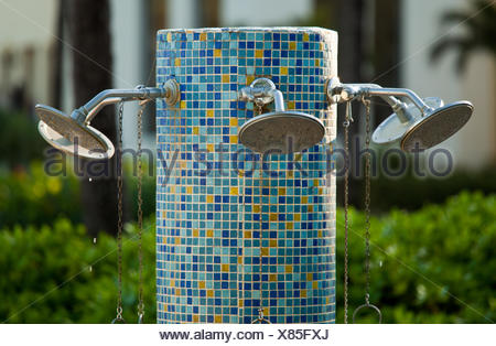 Multiple nozzles on shower - Stock Photo