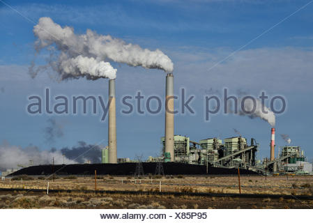 USA, United States, America, Arizona, Scottsdale, Power Plant, energy, pollution, global warming, coal, industry, smoke - Stock Photo