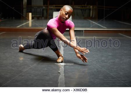 Ballet dancer in dance move - Stock Photo