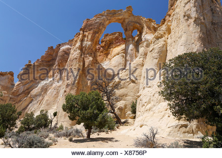 Grosvenor Arch, Grand Staircase, Escalante, Utah, USA - Stock Photo