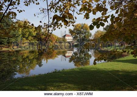 Laubfärbung im Wörlitzer Park / Foliage in Wörlitz - Stock Photo