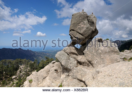Mountain landscape, Corsica, France, Europe - Stock Photo