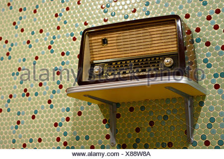 radio retro old - Stock Photo
