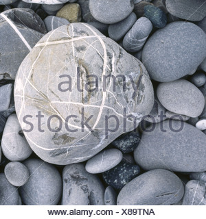 pattern figured gray big great stone small stones different background concept - Stock Photo