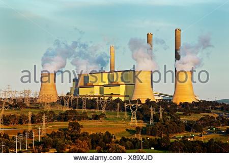 Power station,brown coal,Loy Yang , Yallourn,Victoria,Australia, - Stock Photo