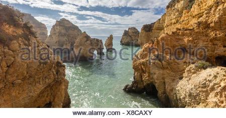 Portugal, Lagos, View of Ponta da Piedade - Stock Photo