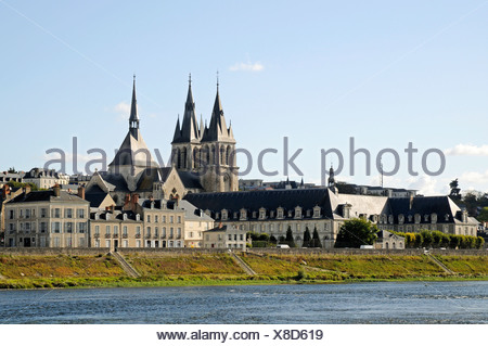 Church of Saint-Nicolas, Loire river, Blois, Loir-et-Cher, Centre, France, Europe, PublicGround - Stock Photo