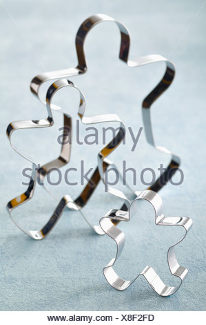 Men-shaped biscuit cutters - Stock Photo