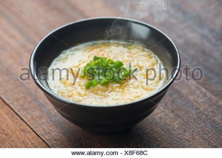 Congee bowl ready to serve - Stock Photo