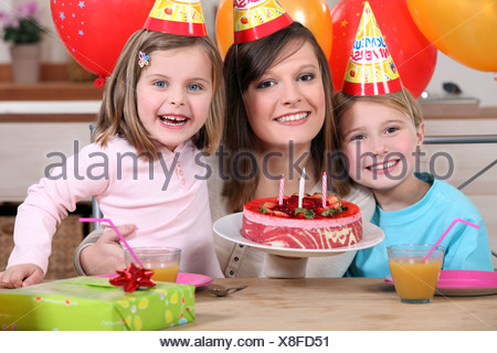 Child's birthday - Stock Photo
