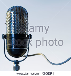 Close up of radio microphone - Stock Photo