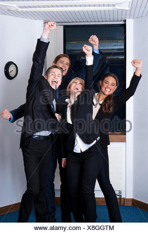 Winners in business, celebrating success - Stock Photo