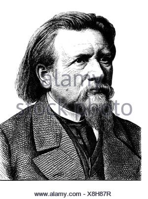 Gutzkow, Karl Ferdinand, 17.3.1811 - 16.12.1878, German author/writer, portrait, steel engraving, 19th century, , Artist's Copyright has not to be cleared - Stock Photo