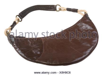 fashion ladies female convenient elegant photo model model bag handbag isolated - Stock Photo