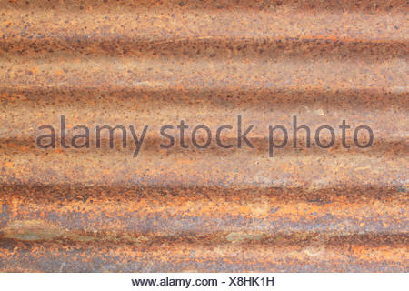 Rusted galvanized iron roof plate, background and texture material - Stock Photo