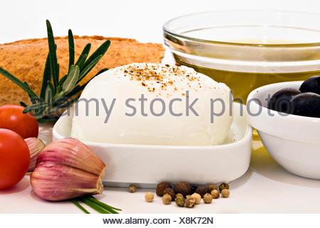 Mozzarella cheese - Stock Photo