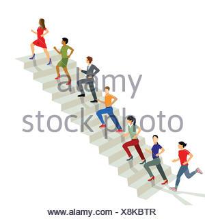 Successful career advancement - Stock Photo