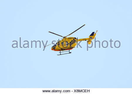 Christoph 22, ADAC rescue helicopter of the Bundeswehr, German Defense Force Hospital in Ulm Stock Photo
