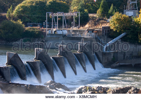 Savage Rapids Dam, which is slated to be removed from the Rogue River. - Stock Photo