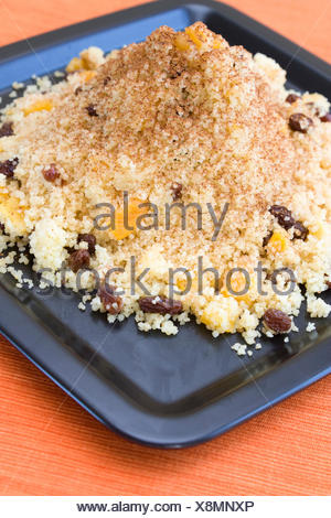 sweet african couscous - Stock Photo