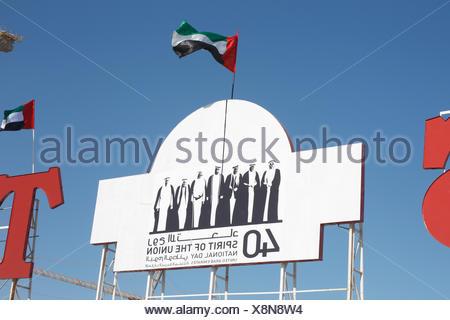 Celebrating National Day, Dubai, UAE. - Stock Photo