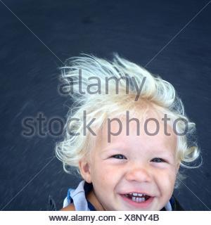 Portrait of happy child - Stock Photo