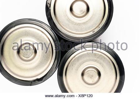 Three batteries - Stock Photo