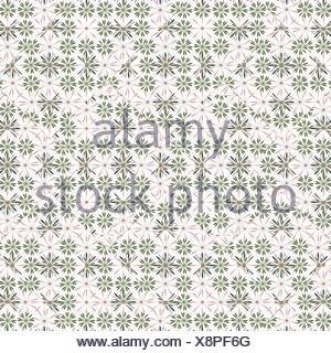 Ditsy Stylized Floral Seamless Pattern - Stock Photo