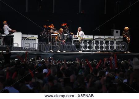 Status Quo, British rock musicians, Open Air Festival, Muehldorf am Inn, Bavaria, Germany - Stock Photo