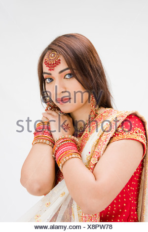 Beautiful Bangali bride - Stock Photo