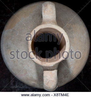 Top view of a Hellenistic Terracotta Amphora 4-3 century BCE - Stock Photo
