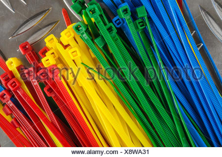 Set colored cable ties, close up Stock Photo: 276120172 - Alamy