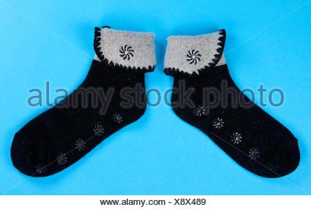 a pair of wool socks - Stock Photo