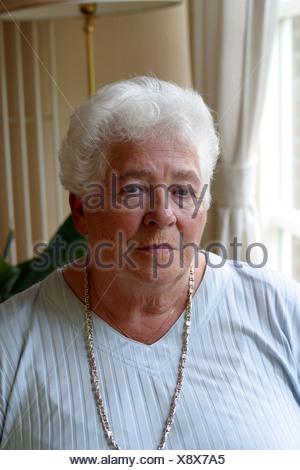 Sad old lonely senior - Stock Photo