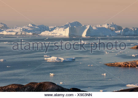 disko bay in ilulissat iii - Stock Photo