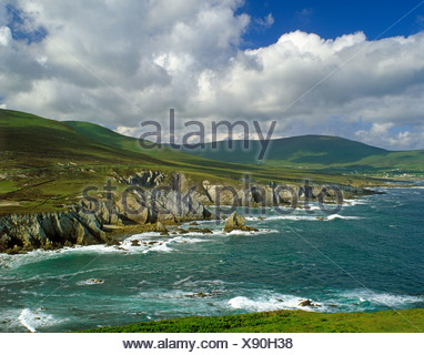 Coast, Ashleam Bay, Achill Island, County Mayo, Republic of Ireland, Europe - Stock Photo