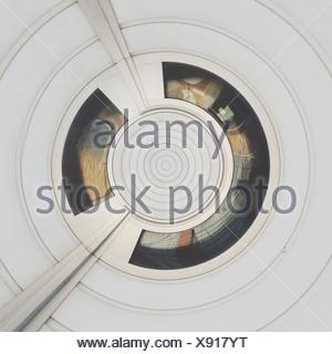 Abstract Concentric White Pattern - Stock Photo