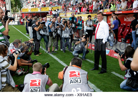 FC Bayern-Muenchen coach Louis van Gaal, Fussball-Bundesliga Football League 3rd match day: FSV Mainz 05 - FC Bavaria Munich in - Stock Photo