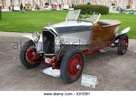 Mathis MYN Torpedo, F 1930, vintage car meeting, Schwetzingen, Baden-Wuerttemberg, Germany - Stock Photo