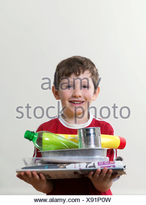 Recyclable household waste - Stock Photo