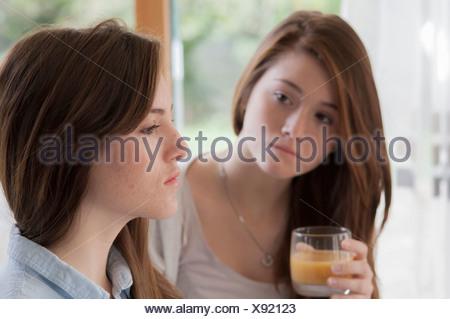 Adolescent indoors - Stock Photo