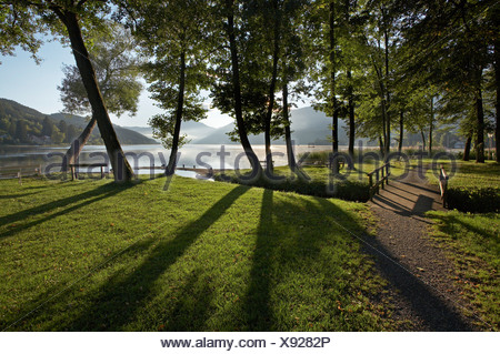 Lake Millstatt, Seeboden, Carinthia, Austria - Stock Photo