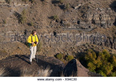 View from Scout Camp Trail, Steelhead Falls Wilderness Study Area, Deschutes Wild and Scenic River, Prineville District Bureau - Stock Photo